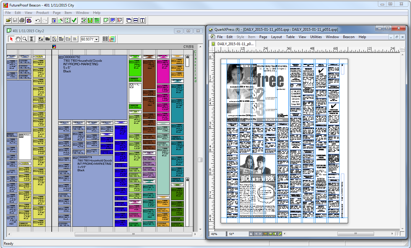 InDesign or QuarkXPress page layout - Beacon - Miles33 - Wave2